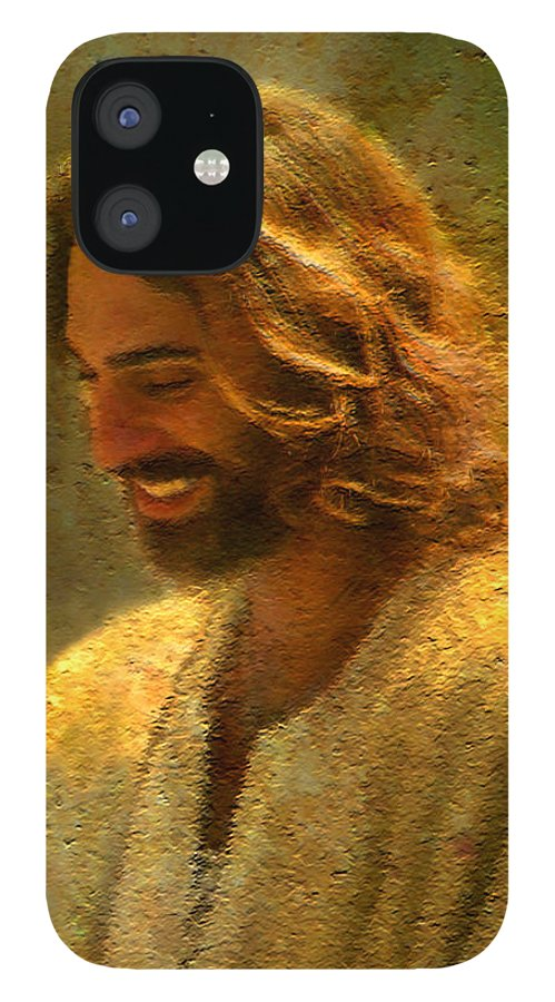 Jesus IPhone 12 Case featuring the painting Joy of the Lord by Greg Olsen