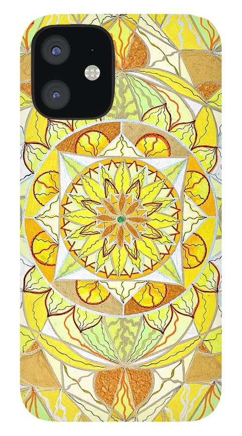 Joy IPhone 12 Case featuring the painting Joy by Teal Eye Print Store