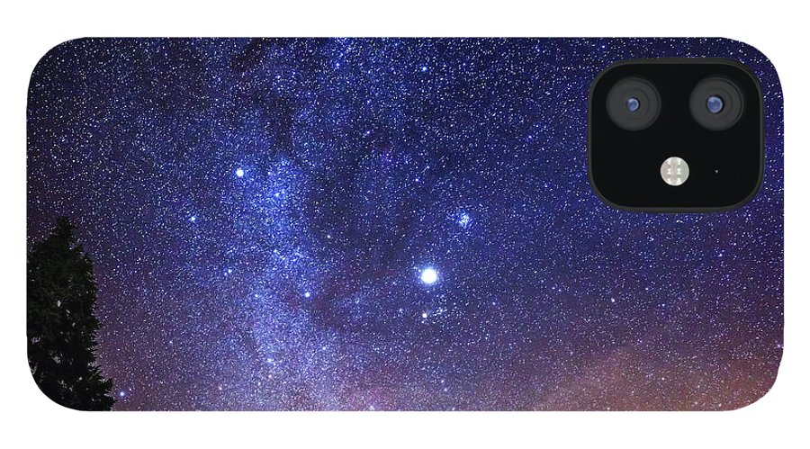 Milky Way IPhone 12 Case featuring the photograph Jupiter Rising by Alexis Birkill