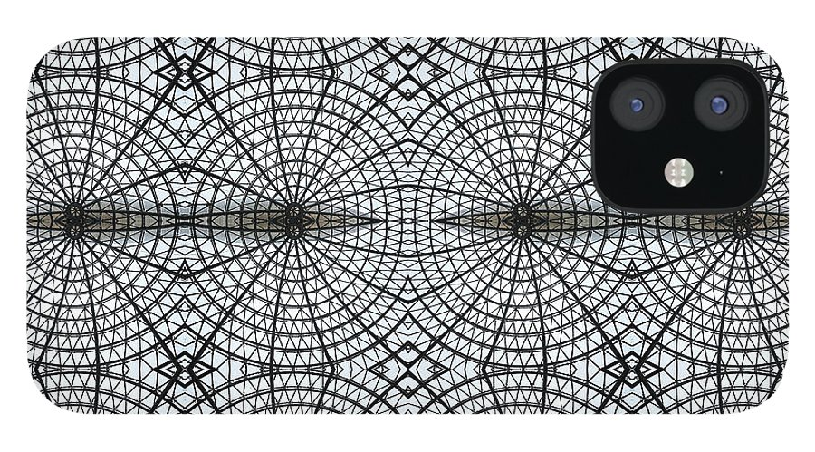 Internet IPhone 12 Case featuring the photograph Kaleidoscope Of Metal And Glass Design by Elena Peremet
