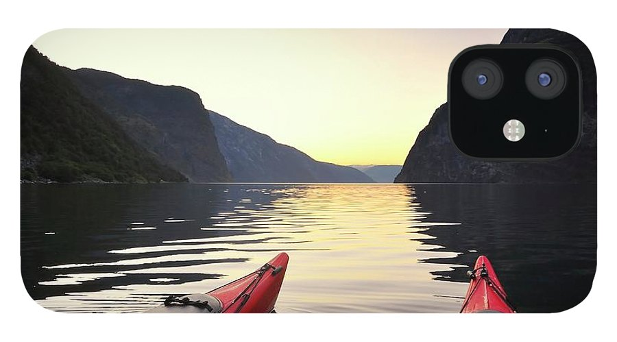 Scenics IPhone 12 Case featuring the photograph Kayak In Norway by Sjo