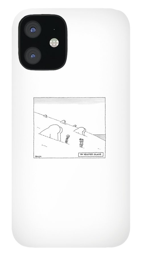 Keister Island -- Statues Of Butts Instead iPhone 12 Case