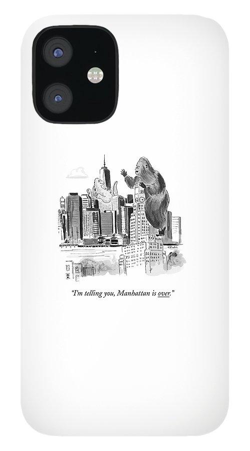 King Kong, Atop The Williamsburgh Savings Bank iPhone 12 Case