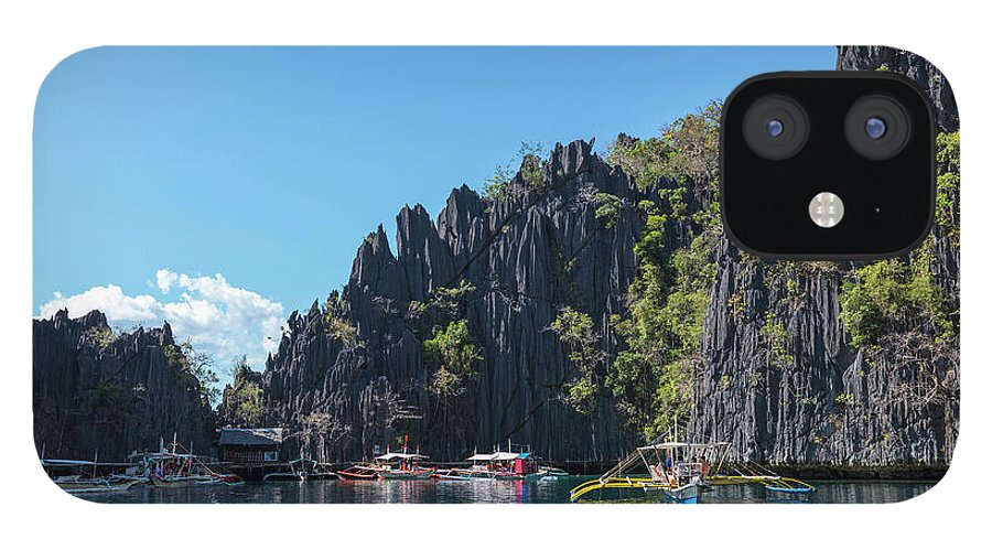 Outdoors IPhone 12 Case featuring the photograph Lagoon, Coron, Palawan, Phillippines by John Harper