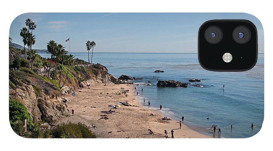 Tranquility IPhone 12 Case featuring the photograph Laguna Beach Cove by Mitch Diamond