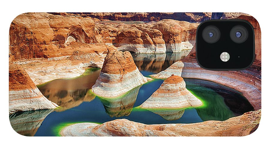 Tranquility IPhone 12 Case featuring the photograph Lake Powell by Chen Su