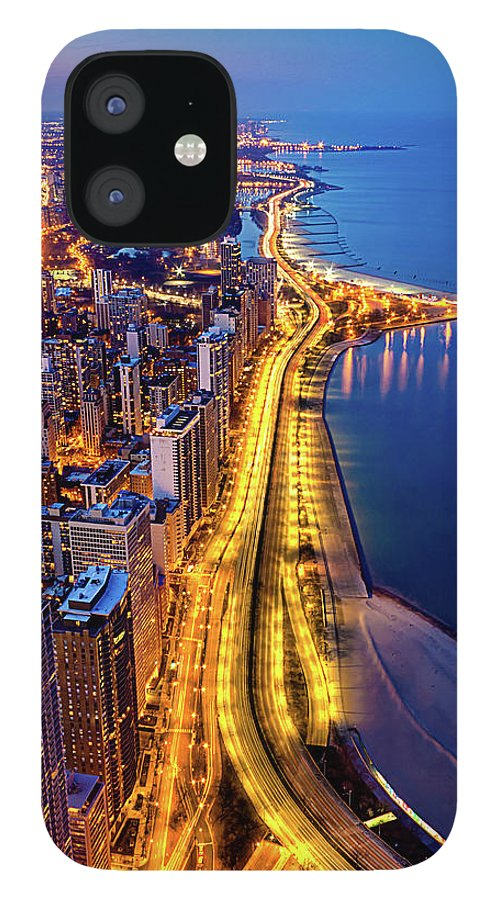 Lake Michigan IPhone 12 Case featuring the photograph Lake Shore Drive by Carl Larson Photography