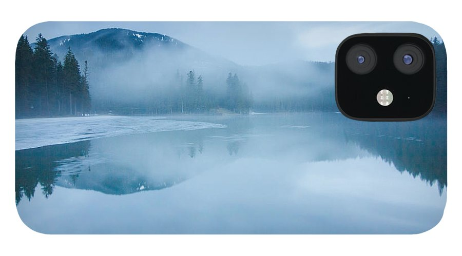 Scenics iPhone 12 Case featuring the photograph Lake Surrounded By Mountains And Forest by Verybigalex