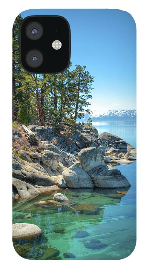 Scenics IPhone 12 Case featuring the photograph Lake Tahoe, The Rugged North Shore by Ed Freeman