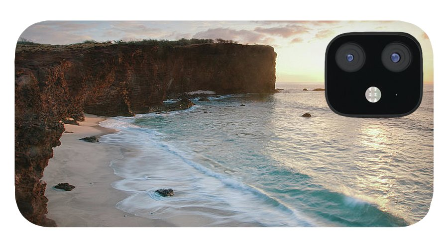 Scenics IPhone 12 Case featuring the photograph Lanai Sunset Resort Beach by M Swiet Productions