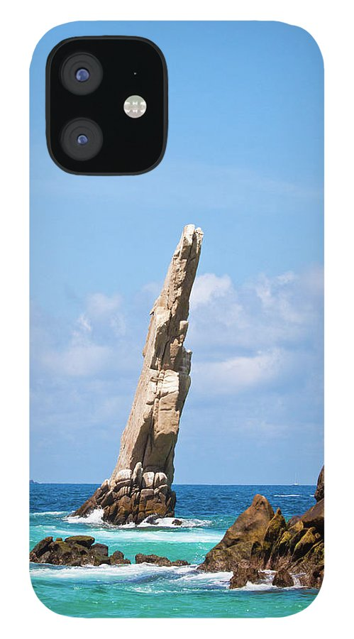 Scenics iPhone 12 Case featuring the photograph Lands End Rock by Christopher Kimmel