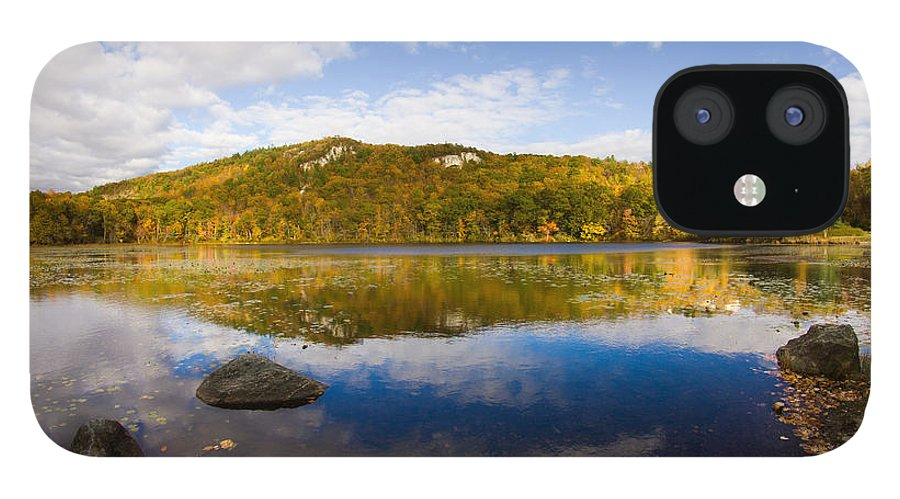 Lantern Hill Pond IPhone 12 Case featuring the photograph Lantern Hill Pond - North Stonington CT by Kirkodd Photography Of New England