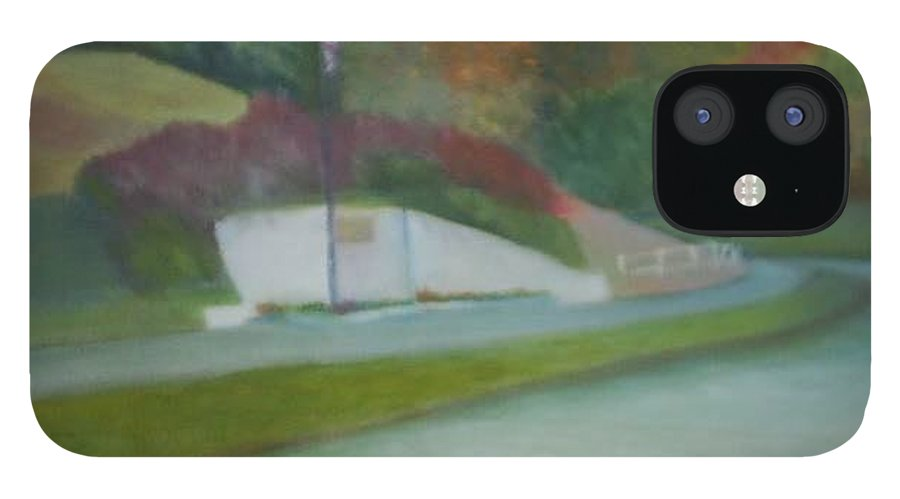 Park IPhone 12 Case featuring the painting Laurel Acres by Sheila Mashaw