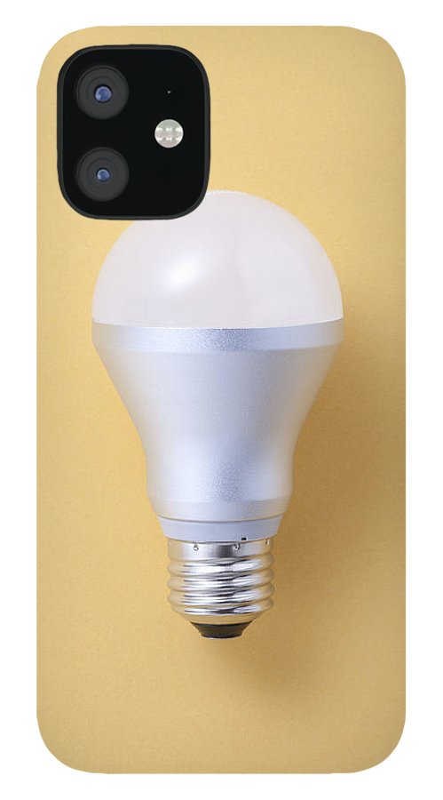 Environmental Conservation IPhone 12 Case featuring the photograph Led Bulb by Imagenavi