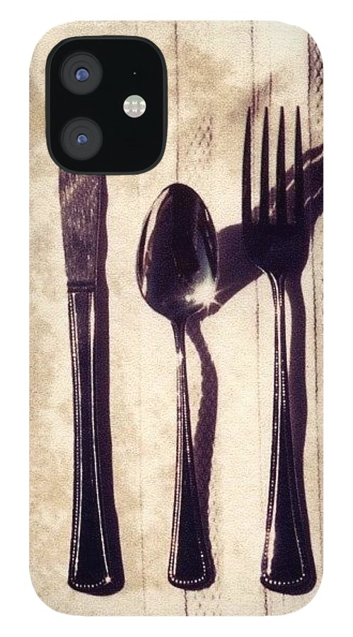 Forks IPhone 12 Case featuring the photograph Lets Eat by Jane Linders