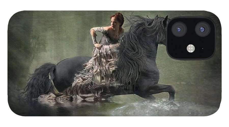 Girl Fleeing On Horse IPhone 12 Case featuring the photograph Liberated by Fran J Scott