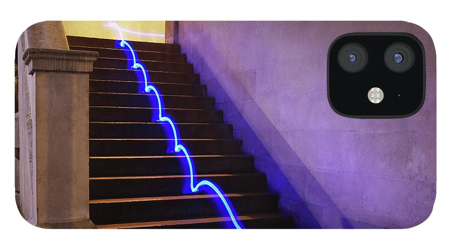 Steps IPhone 12 Case featuring the photograph Light Trail On Steps by Tim Robberts