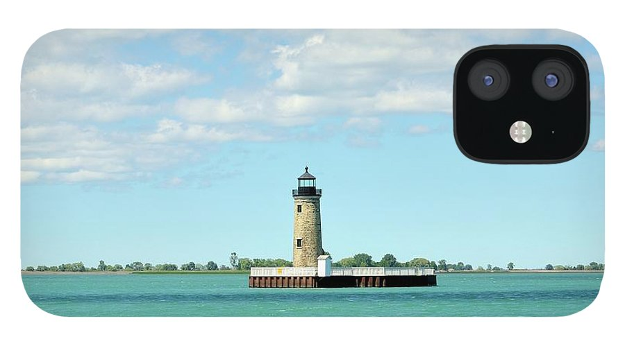 Scenics IPhone 12 Case featuring the photograph Lighthouse Lake St. Clair by Rivernorthphotography