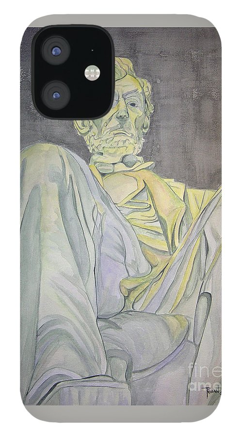 Presidents IPhone 12 Case featuring the painting Lincoln by Regan J Smith