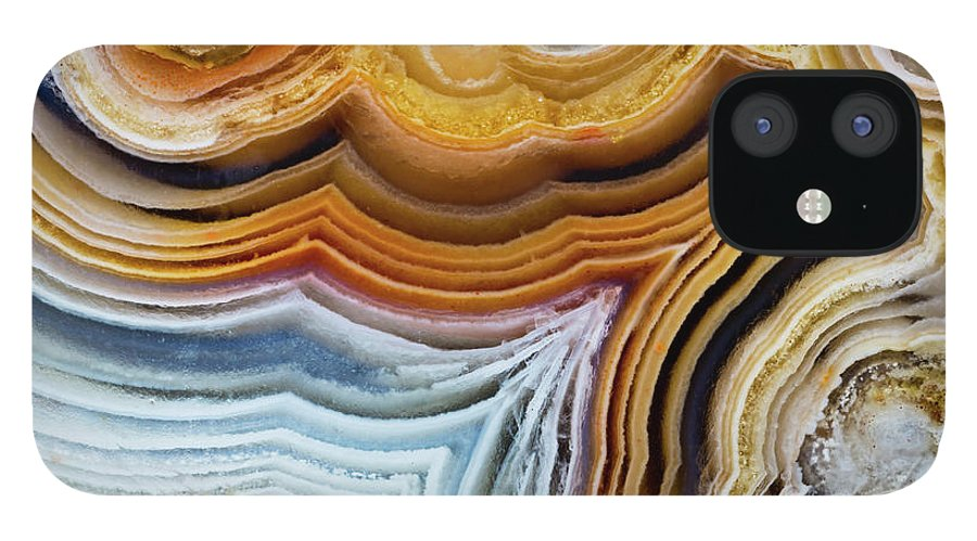 Geology IPhone 12 Case featuring the photograph Lines And Pattern In Agua Nueva Mexican by Darrell Gulin