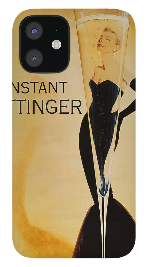 L'instant Taittanger IPhone 12 Case featuring the digital art L'Instant Taittinger by Georgia Fowler