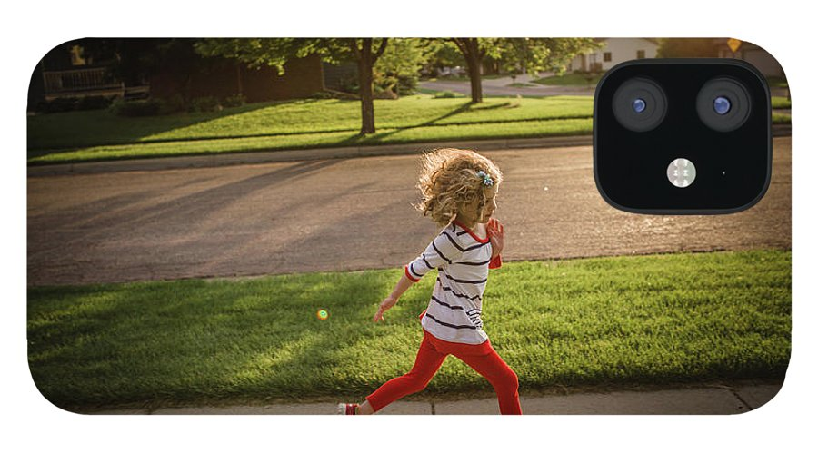 4-5 Years IPhone 12 Case featuring the photograph Little Girl Running by Annie Otzen