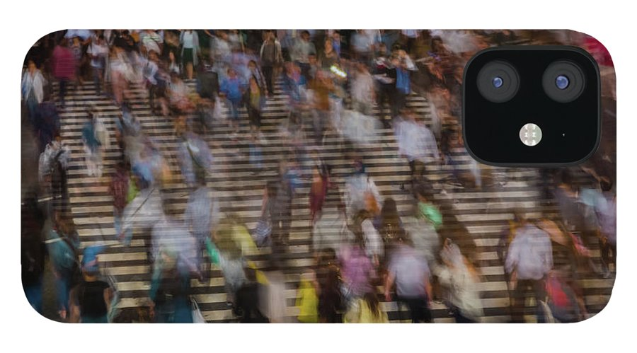 Population Explosion IPhone 12 Case featuring the photograph Long Exposure Picture Of People by Artur Debat