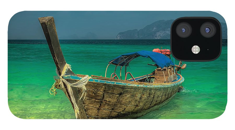 Koh Lanta IPhone 12 Case featuring the photograph Long Tail Boat Thailand by Adrian Evans