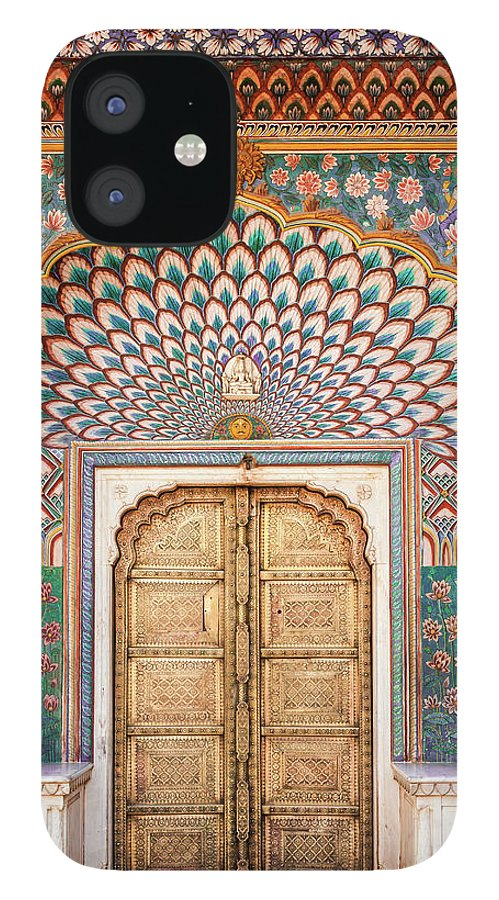 Arch IPhone 12 Case featuring the photograph Lotus Gate In Jaipur City Palace by Hakat
