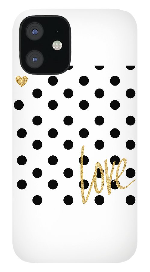 Love IPhone 12 Case featuring the digital art Love With Dots by South Social Studio