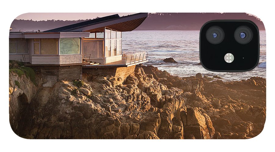 Water's Edge IPhone 12 Case featuring the photograph Luxury Home Overlooks The Big Sur by Pgiam