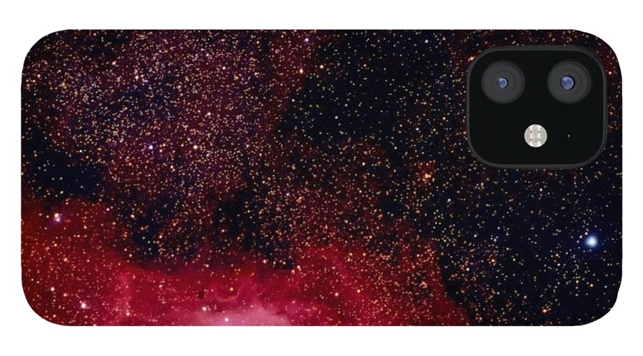 New Mexico IPhone 12 Case featuring the photograph M8 The Lagoon Nebula And M20 The Trifid by A. V. Ley