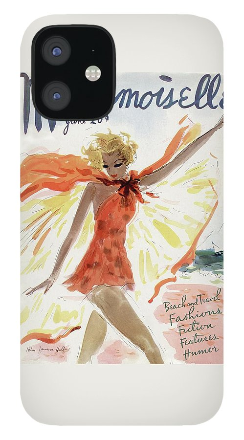 Mademoiselle Cover Featuring A Model At The Beach IPhone 12 Case