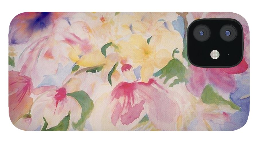Impressionist IPhone 12 Case featuring the painting Magnolias by Phoenix Simpson