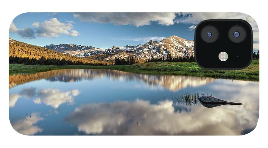 Scenics IPhone 12 Case featuring the photograph Mammoth Peak Reflection by Tom Grubbe