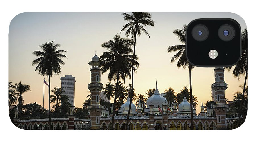 Clear Sky iPhone 12 Case featuring the photograph Masjid Jamek - Kuala Lumpur by @ Didier Marti