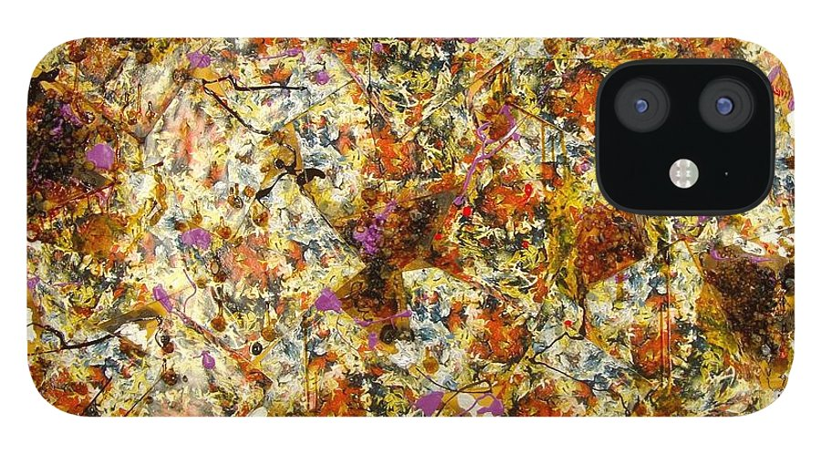 IPhone 12 Case featuring the painting Materias assembled by Biagio Civale