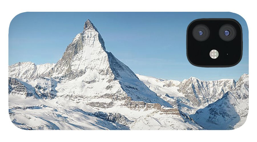 Scenics IPhone 12 Case featuring the photograph Matterhorn Panorama by Georgeclerk