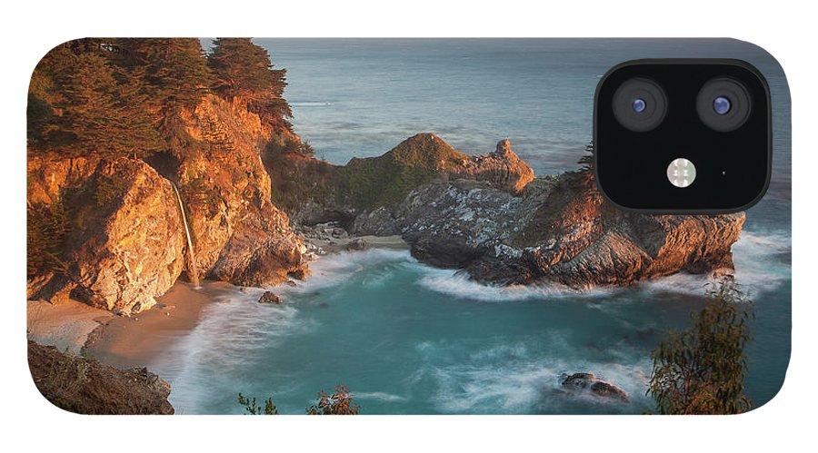 Scenics IPhone 12 Case featuring the photograph Mcway Falls At Sunset by Sean Duan