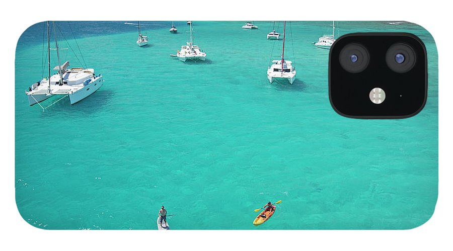 Scenics IPhone 12 Case featuring the photograph Men Doing Water Activities by Karl Weatherly