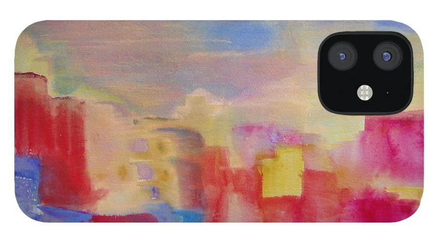 Watercolor IPhone 12 Case featuring the painting Mesa by Phoenix Simpson