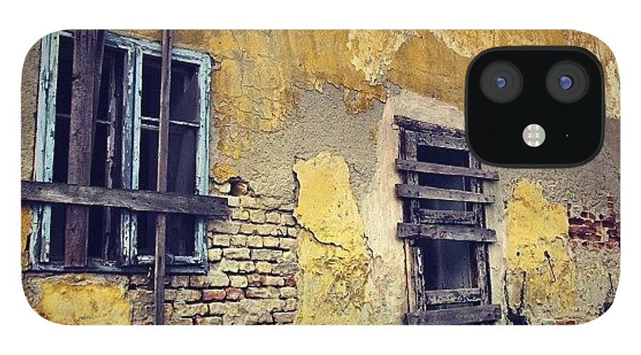 Old IPhone 12 Case featuring the photograph #mgmarts #allshots_may12_yellow by Marianna Mills