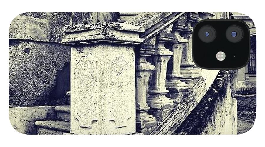 Lonely IPhone 12 Case featuring the photograph #mgmarts #architecture #castle #steps by Marianna Mills