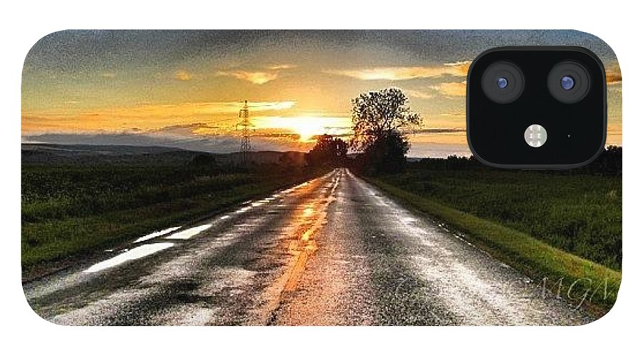 Life IPhone 12 Case featuring the photograph #mgmarts #driving #lonely #instamood by Marianna Mills