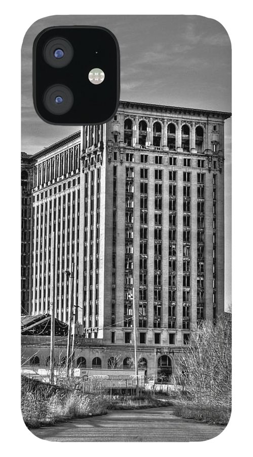 Michigan Central IPhone 12 Case featuring the photograph Michigan Central Station by Nicholas Grunas