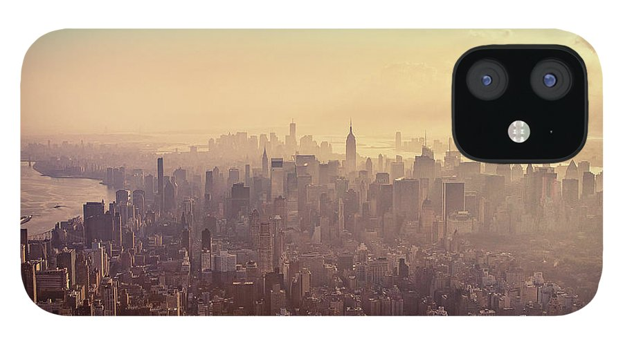 Outdoors IPhone 12 Case featuring the photograph Midtown Manhattan At Dusk by Matthias Haker Photography