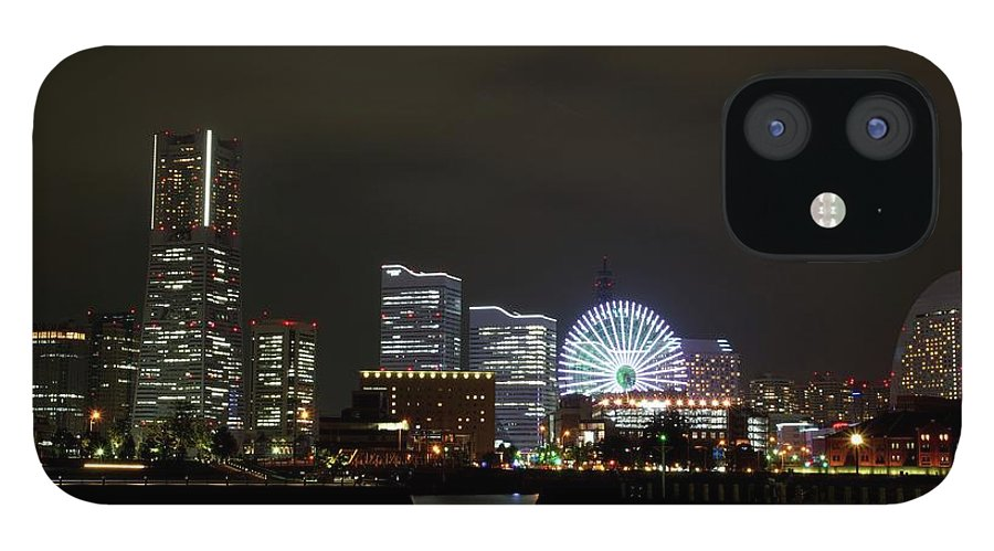 Tranquility IPhone 12 Case featuring the photograph Minato-mirai by Takuya.skd