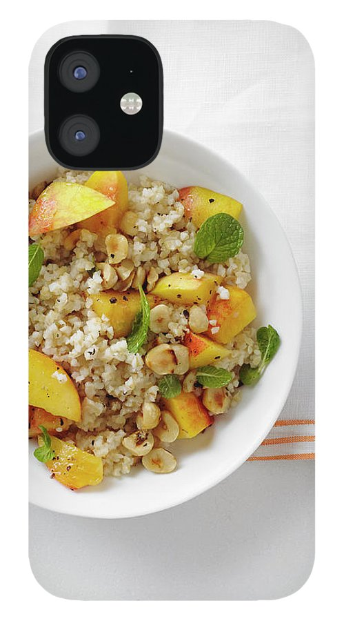 Temptation IPhone 12 Case featuring the photograph Minted Bulgur And Peach Salad by Iain Bagwell