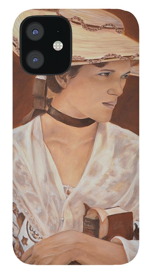 Portrait IPhone 12 Case featuring the painting Miss Nichols by Anne Kushnick