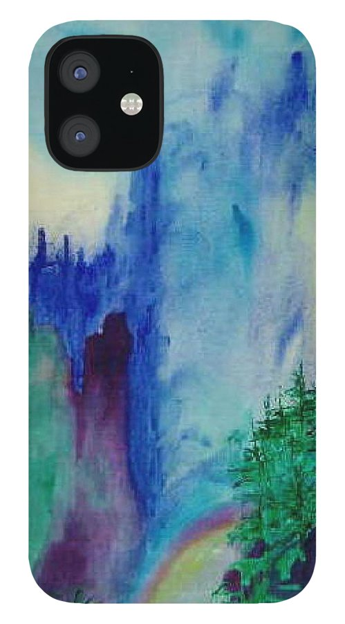 Impressionistic IPhone 12 Case featuring the painting Mist by Phoenix Simpson